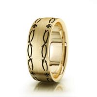 Religious Christian Crown Of Thorns Wedding Ring Satin 8mm 00508