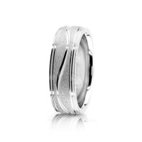 Solid Satin Designer Wedding Band 7mm 01074