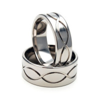 Polish Flat His And Her Wedding Bands 7mm, 9mm 02106