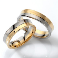 Polish Concave Ladies And Mens Matching Wedding Bands 5mm 02121