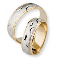 Satin Low Dome His And Hers Wedding Bands 6mm 02294