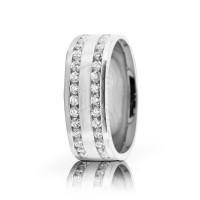 1.75 Carat Round Diamond Wedding Band 7mm 02521