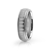 Solid Satin Designer Wedding Band 6.5mm 02561
