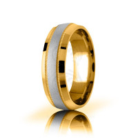 Genuine Satin Stylish Center Line Wedding Band 8mm 03056