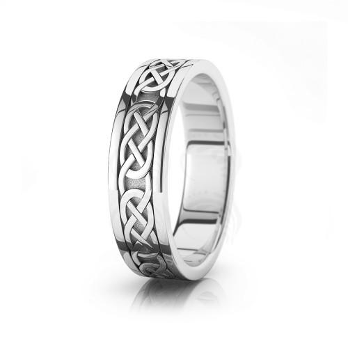 Celtic Chain Wedding Band Polish 6mm 00003