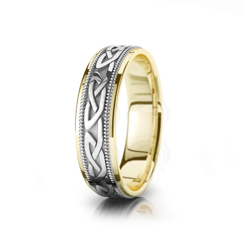 Celtic Traditional Wedding Band Polish 6mm 00005