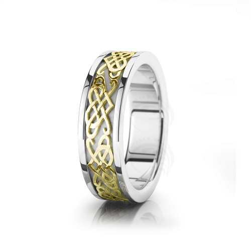 Celtic Heart Wedding Band Polish 6mm 00008
