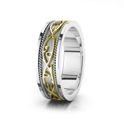 Celtic Twisted Rope Wedding Band Polish 7mm 00018