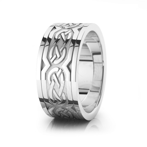 Celtic Wedding Band Polish 10mm 00020