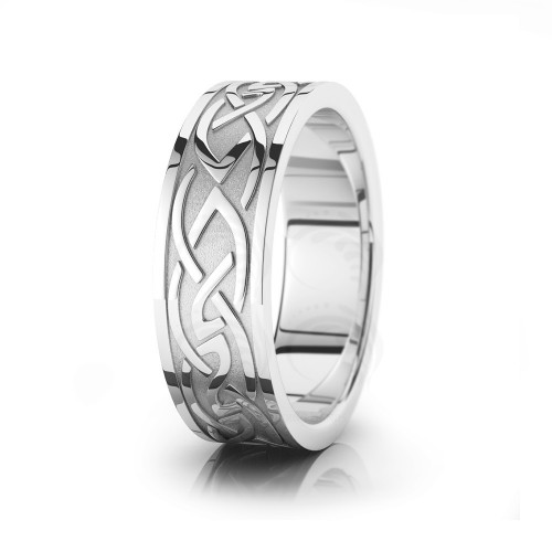 Celtic Wedding Band Polish 7.5mm 00025