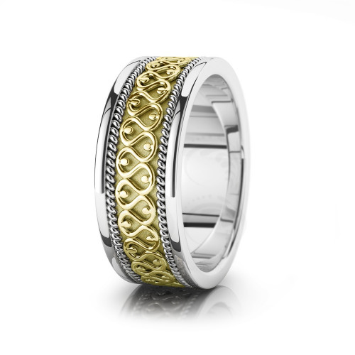 Celtic Braided Wedding Band Polish 8.5mm 00030
