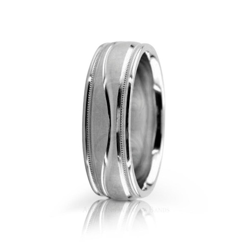 Authentic Satin Stylish Wedding Band 6.5mm 01086