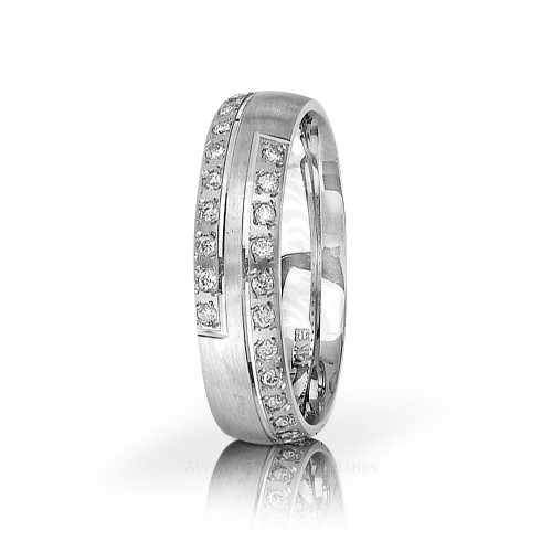 0.24 Carat Round Diamond Wedding Ring 6mm 01143