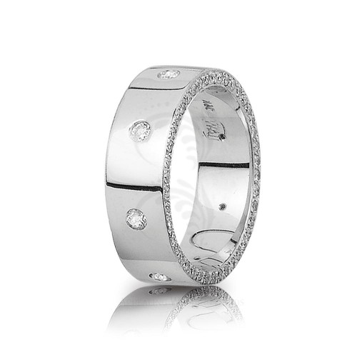 1 Ctw Round Diamond Eternity Edge Wedding Ring 7mm 01247