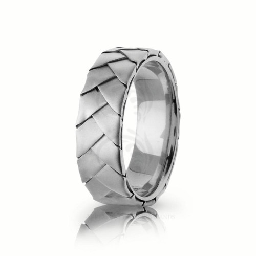 Handmade Polish Braided Basket Weave Wedding Ring 7mm