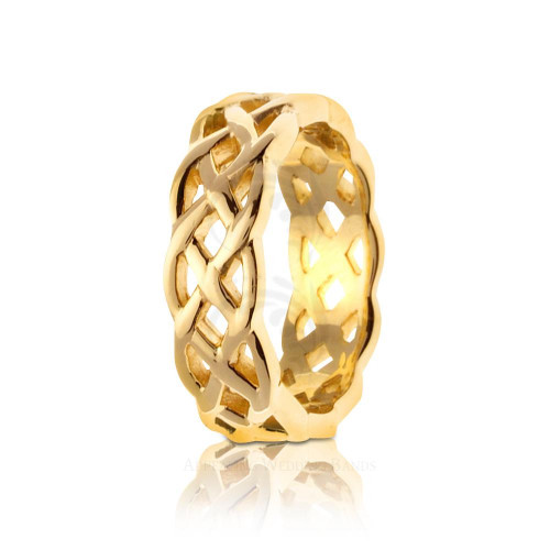 Celtic Infinity Knot Wedding Band Polish 7mm 01686