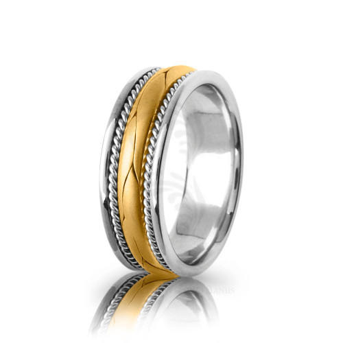 Handwoven Satin Puzzle Braided Wedding Band 8mm