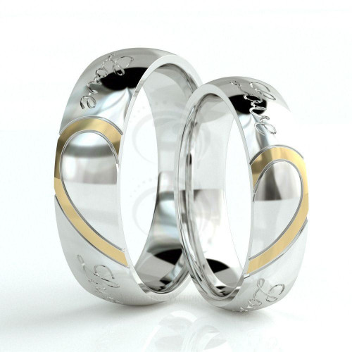 Polish Low Dome His And Her Wedding Bands 5mm, 6mm 02102