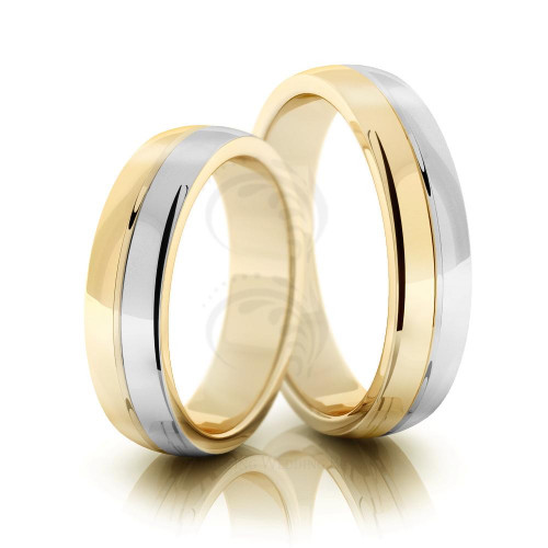Polish Dome His And Her Wedding Bands 5mm 02118