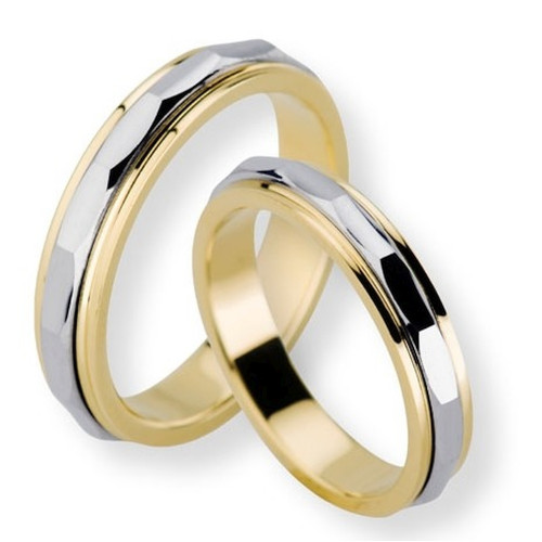 Polish His Hers Wedding Rings 4mm, 5mm 02293
