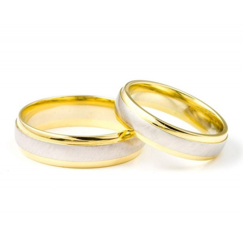 Polish Brush Dome His And Hers Matching Wedding Bands 5mm, 6mm 02298