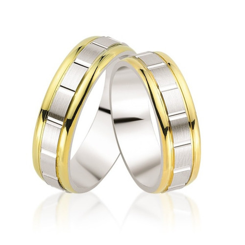 Satin Couples Wedding Bands 5mm, 6mm 02307