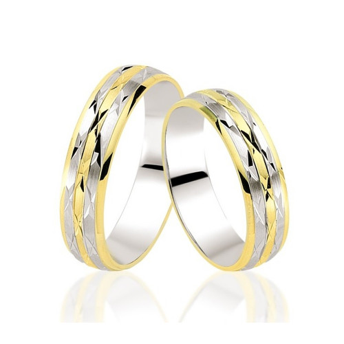 Polish Brush His And Hers Wedding Bands 5mm, 6mm 02308