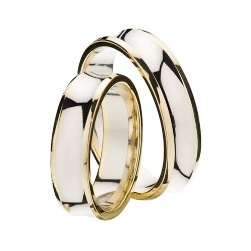 Polish Concave Ladies And Mens Wedding Rings 5mm, 6mm 02320
