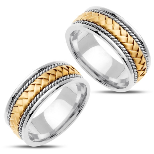 Polish His And Hers Wedding Bands 8.5mm 02333