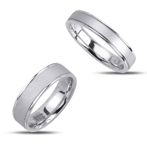 Polish Sandstone Ladies And Mens Wedding Bands 5mm, 6.5mm 02343