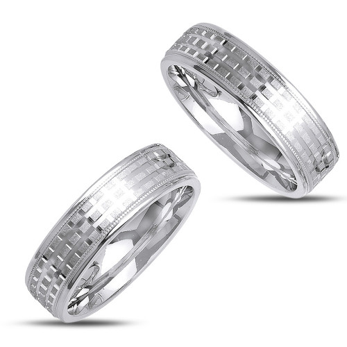 Polish His And Her Wedding Rings 6mm 02352