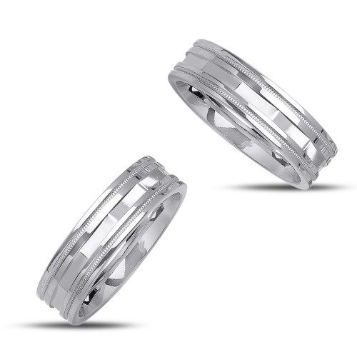 Polish His And Hers Wedding Bands 6mm 02354