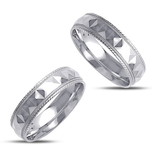 Polish His And Her Wedding Rings 6mm 02362
