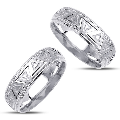 Polish His And Hers Wedding Rings 7mm 02364