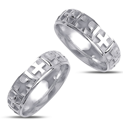 Satin His And Hers Wedding Rings 6mm 02367