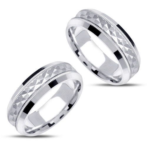 Polish His And Hers Matching Wedding Rings 7mm 02371