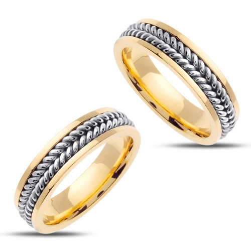 Polish His And Hers Wedding Rings 6mm 02387