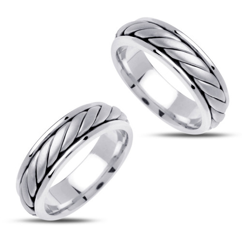 Polish His And Her Wedding Bands 6.5mm 02409