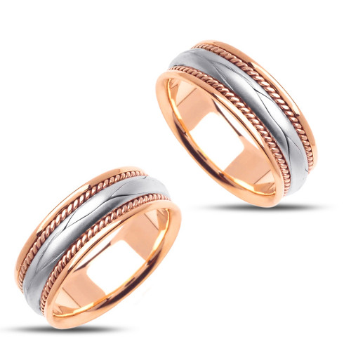 Polish His And Her Wedding Bands 8mm 02416