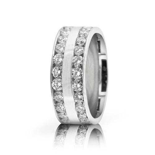 2.8 Ctw Round Diamond Band Wedding 7mm 02523