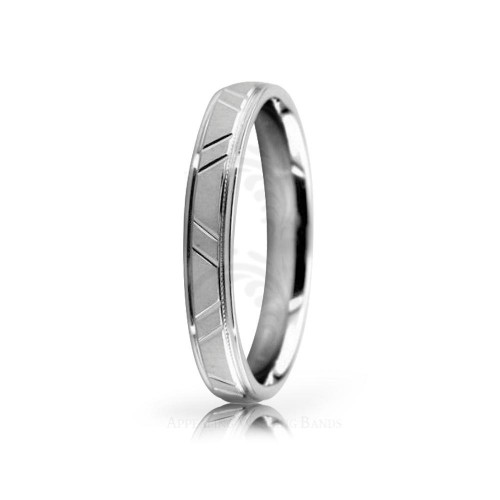 Authentic Satin Designer Wedding Band 3.5mm 02524