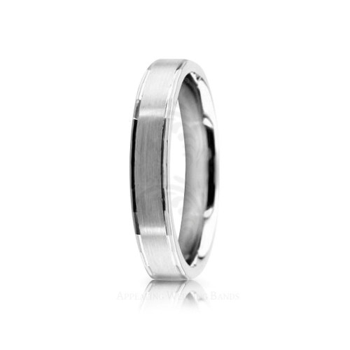 Authentic Satin Designer Wedding Band 4mm 02531