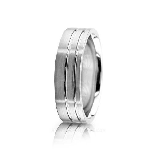 Genuine Satin Stylish Wedding Ring 6mm 02573