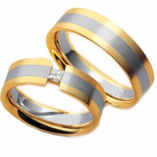 Satin His And Hers Matching Wedding Rings 6mm 03598