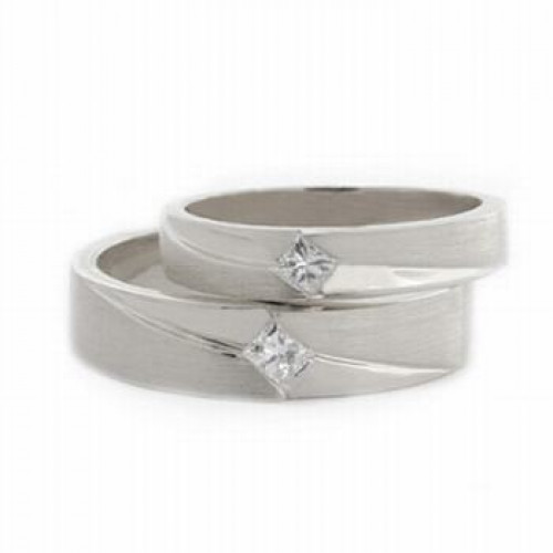 Satin His And Her Wedding Rings 4mm, 6mm 03606