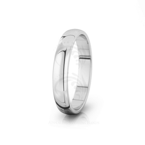 Genuine Polish Traditional Dome Wedding Ring 4mm 04000