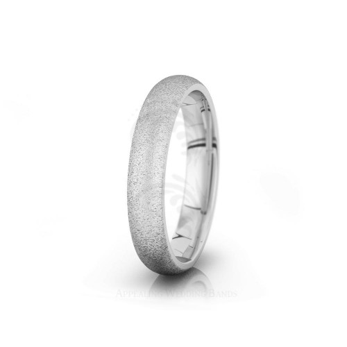 Authentic Sandstone Plain Dome Wedding Ring 4mm 04010