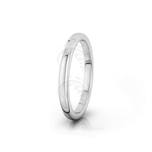 Authentic Polish Plain Full Round Wedding Ring 2.5mm 04025