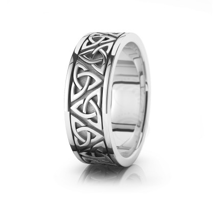 Celtic Trinity Knot Wedding Band Polish 8mm 00002