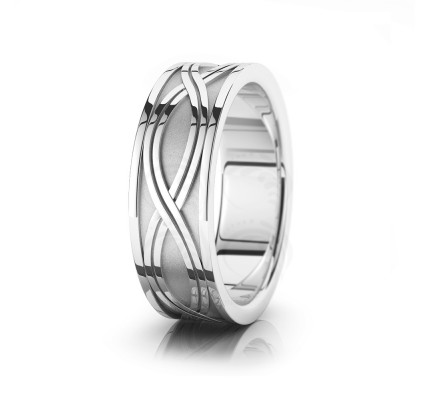 Celtic Twist Wedding Band Polish 7.5mm 00012
